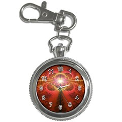 Liquid Sunset, A Beautiful Fractal Burst Of Fiery Colors Key Chain Watches