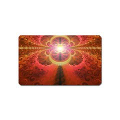 Liquid Sunset, A Beautiful Fractal Burst Of Fiery Colors Magnet (name Card)