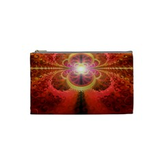 Liquid Sunset, A Beautiful Fractal Burst Of Fiery Colors Cosmetic Bag (small)