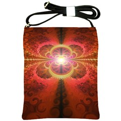 Liquid Sunset, A Beautiful Fractal Burst Of Fiery Colors Shoulder Sling Bags