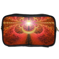 Liquid Sunset, A Beautiful Fractal Burst Of Fiery Colors Toiletries Bags 2 Side by jayaprime