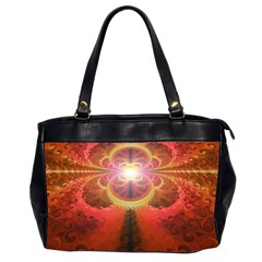 Liquid Sunset, A Beautiful Fractal Burst Of Fiery Colors Office Handbags (2 Sides)  by jayaprime