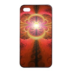 Liquid Sunset, A Beautiful Fractal Burst Of Fiery Colors Apple Iphone 4/4s Seamless Case (black)