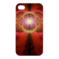 Liquid Sunset, A Beautiful Fractal Burst Of Fiery Colors Apple Iphone 4/4s Hardshell Case