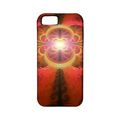 Liquid Sunset, A Beautiful Fractal Burst Of Fiery Colors Apple Iphone 5 Classic Hardshell Case (pc+silicone)