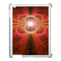 Liquid Sunset, A Beautiful Fractal Burst Of Fiery Colors Apple Ipad 3/4 Case (white) by jayaprime