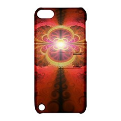 Liquid Sunset, A Beautiful Fractal Burst Of Fiery Colors Apple Ipod Touch 5 Hardshell Case With Stand