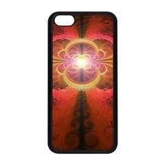 Liquid Sunset, A Beautiful Fractal Burst Of Fiery Colors Apple Iphone 5c Seamless Case (black)