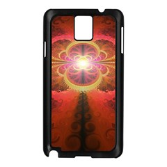 Liquid Sunset, A Beautiful Fractal Burst Of Fiery Colors Samsung Galaxy Note 3 N9005 Case (black)