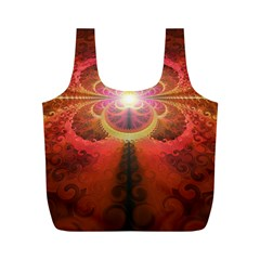 Liquid Sunset, A Beautiful Fractal Burst Of Fiery Colors Full Print Recycle Bags (m)  by jayaprime