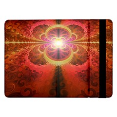 Liquid Sunset, A Beautiful Fractal Burst Of Fiery Colors Samsung Galaxy Tab Pro 12 2  Flip Case