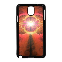 Liquid Sunset, A Beautiful Fractal Burst Of Fiery Colors Samsung Galaxy Note 3 Neo Hardshell Case (black)