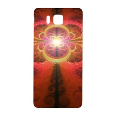 Liquid Sunset, A Beautiful Fractal Burst Of Fiery Colors Samsung Galaxy Alpha Hardshell Back Case by jayaprime