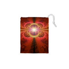 Liquid Sunset, A Beautiful Fractal Burst Of Fiery Colors Drawstring Pouches (xs)  by jayaprime