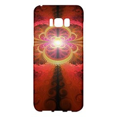 Liquid Sunset, A Beautiful Fractal Burst Of Fiery Colors Samsung Galaxy S8 Plus Hardshell Case  by jayaprime
