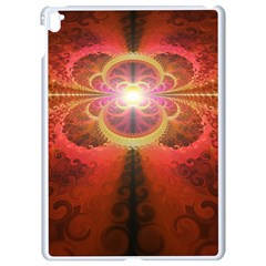 Liquid Sunset, A Beautiful Fractal Burst Of Fiery Colors Apple Ipad Pro 9 7   White Seamless Case by jayaprime