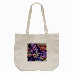 Floral Chrome 01a Tote Bag (cream) by MoreColorsinLife