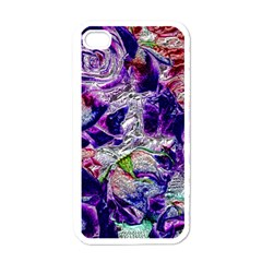 Floral Chrome 01a Apple Iphone 4 Case (white) by MoreColorsinLife