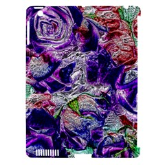 Floral Chrome 01a Apple Ipad 3/4 Hardshell Case (compatible With Smart Cover) by MoreColorsinLife