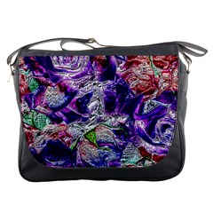 Floral Chrome 01a Messenger Bags by MoreColorsinLife
