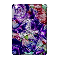 Floral Chrome 01a Apple Ipad Mini Hardshell Case (compatible With Smart Cover) by MoreColorsinLife