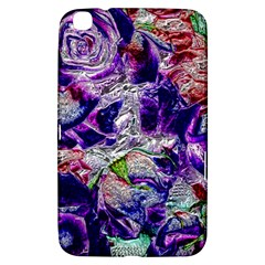 Floral Chrome 01a Samsung Galaxy Tab 3 (8 ) T3100 Hardshell Case  by MoreColorsinLife