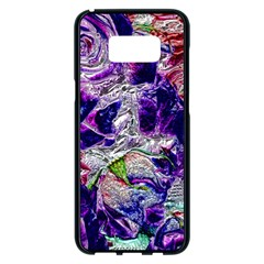 Floral Chrome 01a Samsung Galaxy S8 Plus Black Seamless Case
