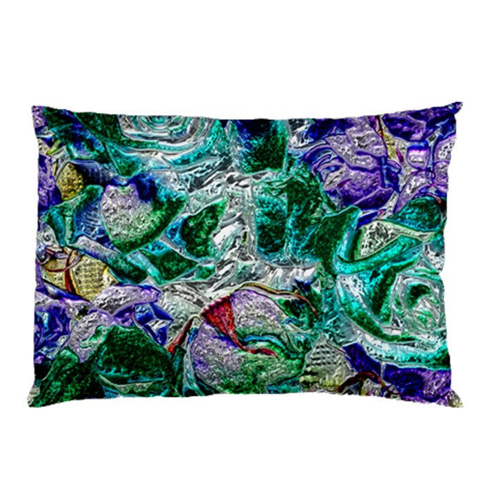Floral Chrome 01b Pillow Case