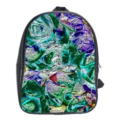 Floral Chrome 01b School Bags(large)  by MoreColorsinLife