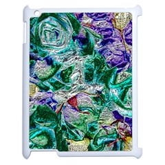 Floral Chrome 01b Apple Ipad 2 Case (white) by MoreColorsinLife