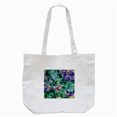 Floral Chrome 01b Tote Bag (white) by MoreColorsinLife