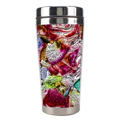 Floral Chrome 01c Stainless Steel Travel Tumblers by MoreColorsinLife