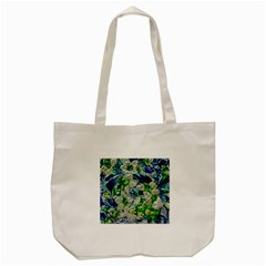 Floral Chrome 2a Tote Bag (cream) by MoreColorsinLife