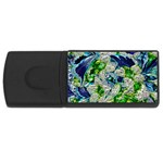Floral Chrome 2a USB Flash Drive Rectangular (4 GB) Front