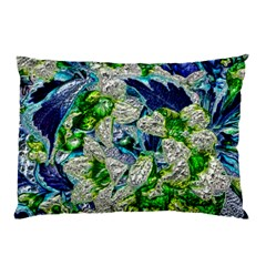 Floral Chrome 2a Pillow Case by MoreColorsinLife