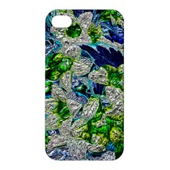 Floral Chrome 2a Apple Iphone 4/4s Hardshell Case by MoreColorsinLife