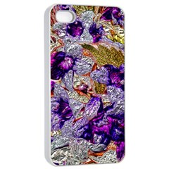 Floral Chrome 2b Apple Iphone 4/4s Seamless Case (white) by MoreColorsinLife