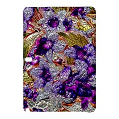 Floral Chrome 2b Samsung Galaxy Tab Pro 10 1 Hardshell Case by MoreColorsinLife