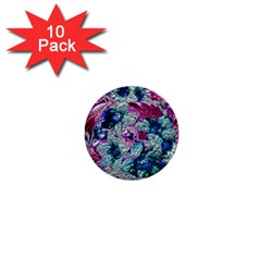 Floral Chrome 2c 1  Mini Buttons (10 Pack)  by MoreColorsinLife