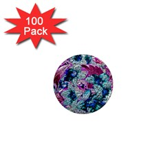 Floral Chrome 2c 1  Mini Magnets (100 Pack)  by MoreColorsinLife