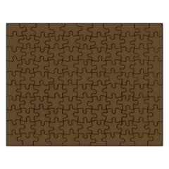Brown Hide Solid Color  Rectangular Jigsaw Puzzl by SimplyColor