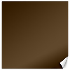 Brown Hide Solid Color  Canvas 12  X 12   by SimplyColor
