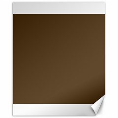Brown Hide Solid Color  Canvas 11  X 14   by SimplyColor