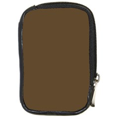 Brown Hide Solid Color  Compact Camera Cases by SimplyColor