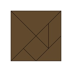 Brown Hide Solid Color  Acrylic Tangram Puzzle (4  X 4 ) by SimplyColor