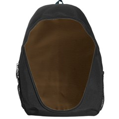 Brown Hide Solid Color  Backpack Bag by SimplyColor