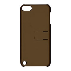 Brown Hide Solid Color  Apple Ipod Touch 5 Hardshell Case With Stand by SimplyColor
