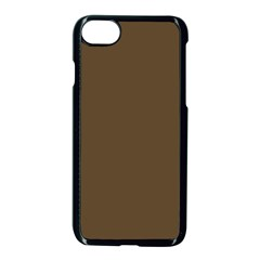 Brown Hide Solid Color  Apple Iphone 7 Seamless Case (black) by SimplyColor