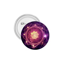 A Gold And Royal Purple Fractal Map Of The Stars 1 75  Buttons