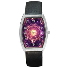 A Gold And Royal Purple Fractal Map Of The Stars Barrel Style Metal Watch by jayaprime